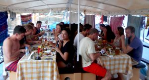 Lunch on boat