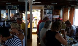 Boat saloon