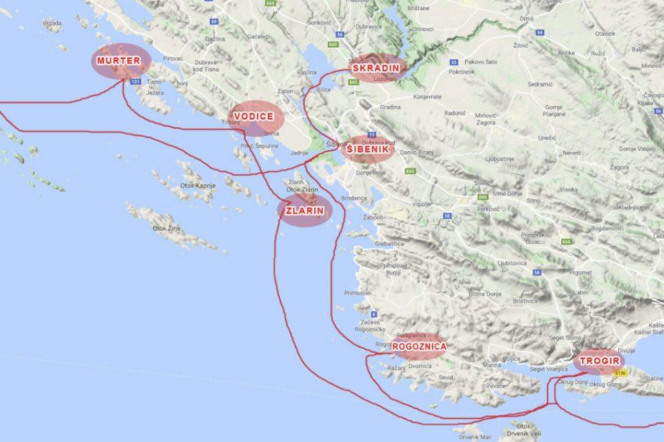 Route Split Kornati